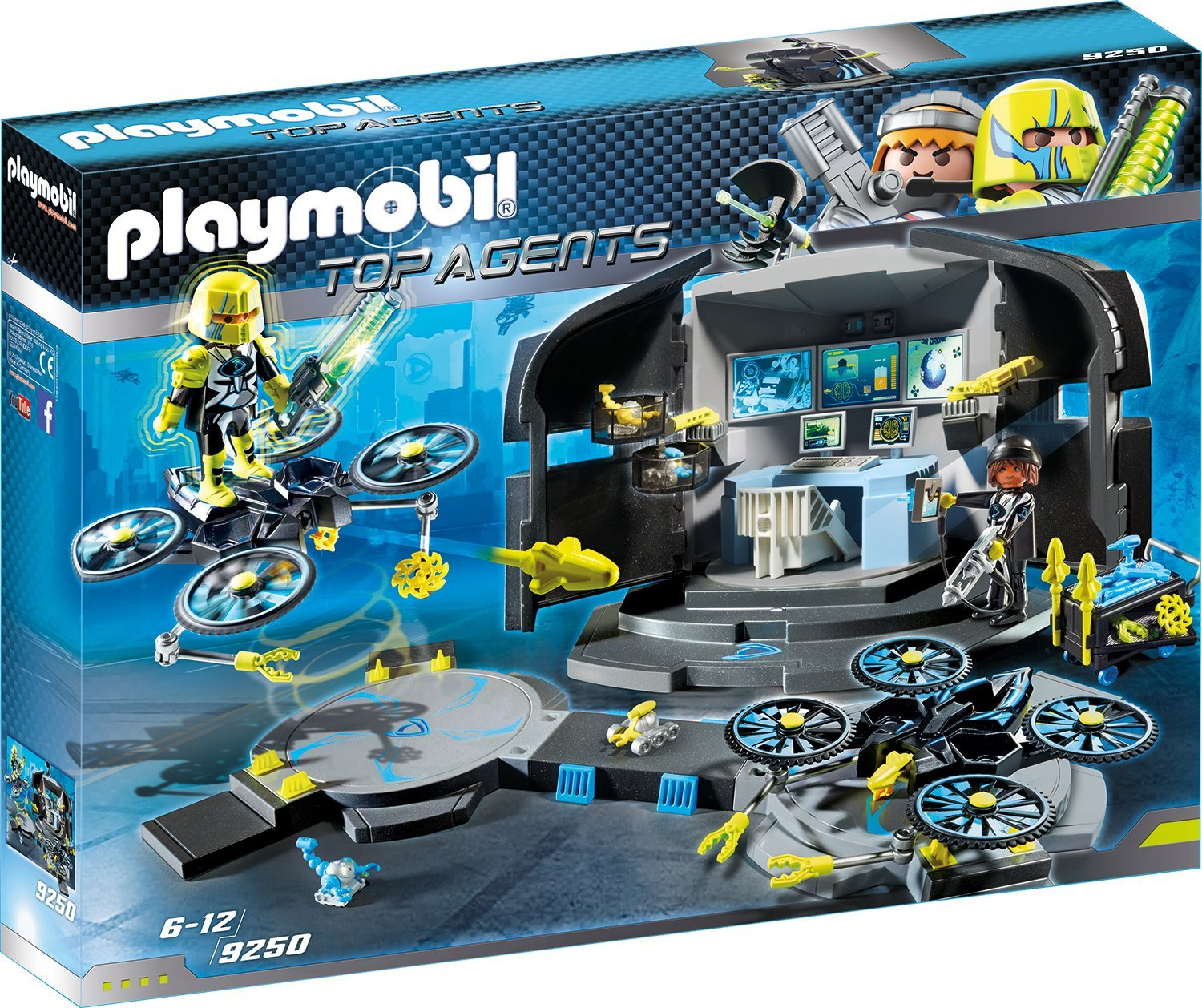 playmobil 9250  dr drone's command center top agents