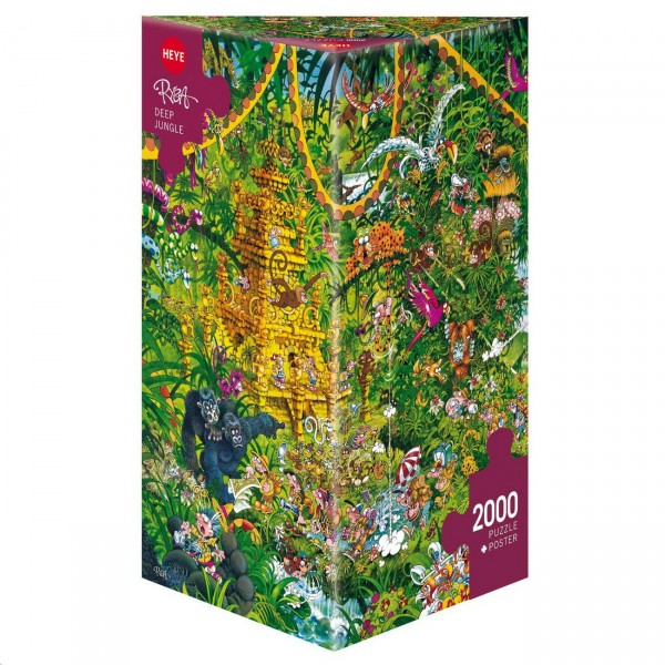 HEYE Puzzle - Dschungel - Deep Jungle 2000 Teile Triangular