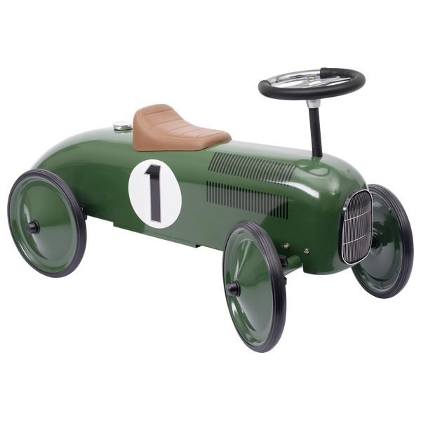 Rutscherfahrzeug Metall grün
