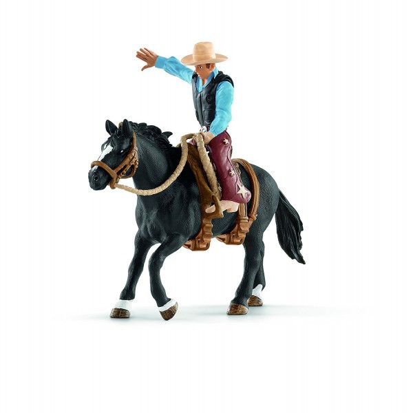 Saddle bronc riding mit Cowboy - Schleich (41416) Farm World
