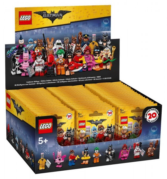 LEGO Minifigures 71017 - THE LEGO BATMAN MOVIE 60er Display