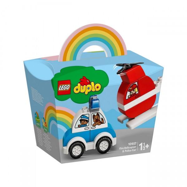 LEGO DUPLO 10957 - Mein erster Feuerwehrhubschrauber und mein erstes Polizeiauto