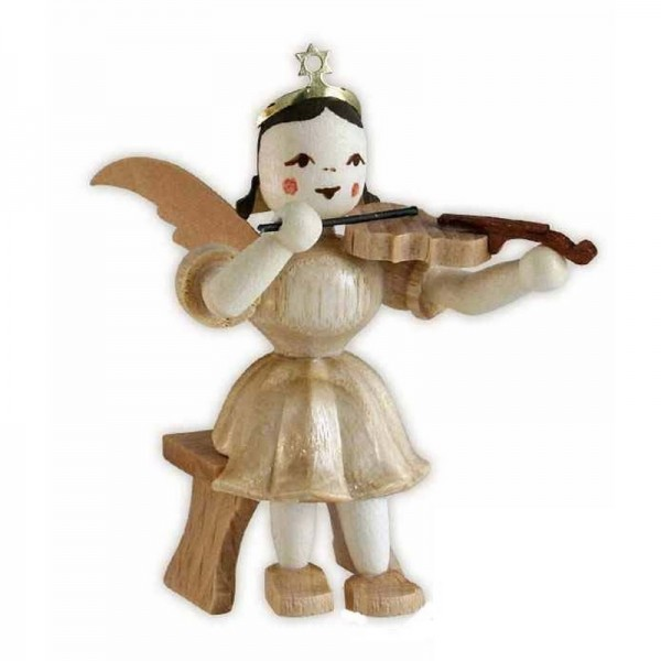 Blank Kurzrock-Engel mit Violine sitzend
