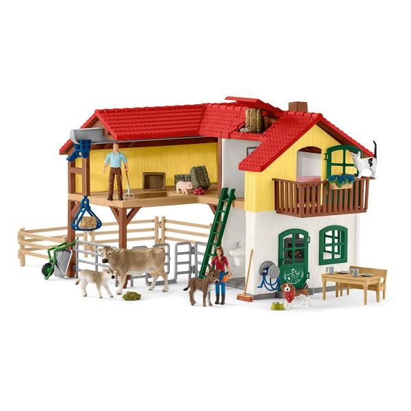 Bauernhaus mit Stall und Tieren - Schleich 42407