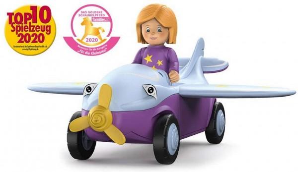 SIKU 0109 - Toddys - Conny Cloudy - Flugzeug Auto lila hellblau