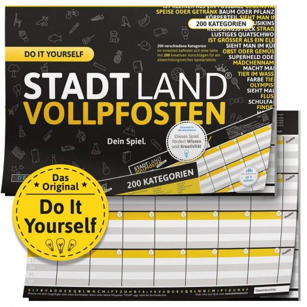 STADT LAND VOLLPFOSTEN - Do it yourself DIY Edition - A4 (DENKRIESEN)