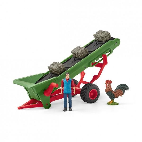 Heuförderband mit Bauer - Schleich (42377) Farm World