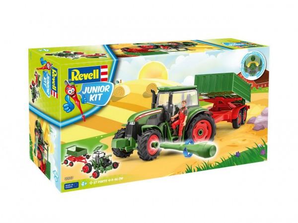 Revell Junior Kit - Trecker Modellauto mit Anhänger und Figur (00817)
