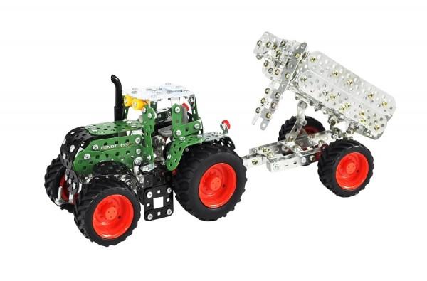 Metallbau Fendt 313 Vario Traktor mit Kippanhänger (Tronico 10021)