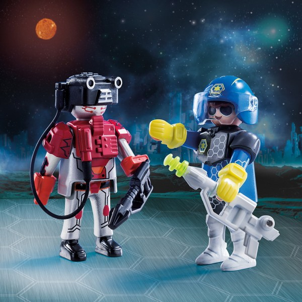 Playmobil 70080 - Spacepolizist und Ganove Duo Pack