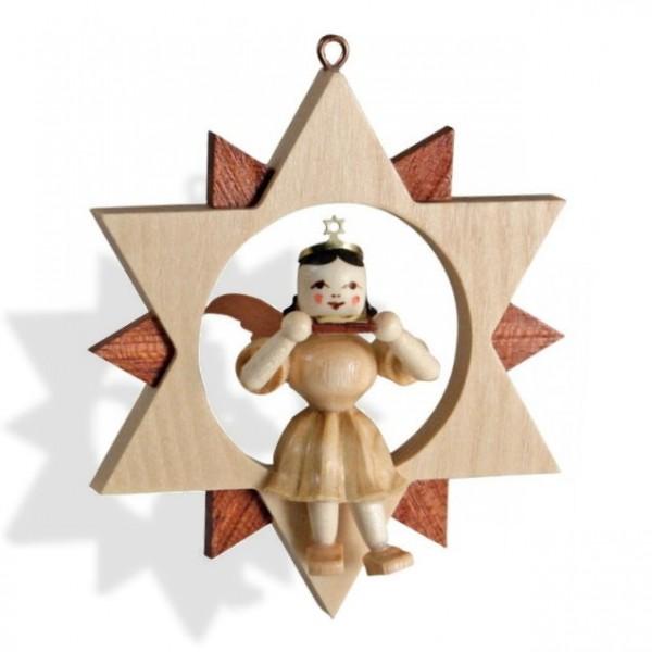 Engel mit Mundharmonika im Stern