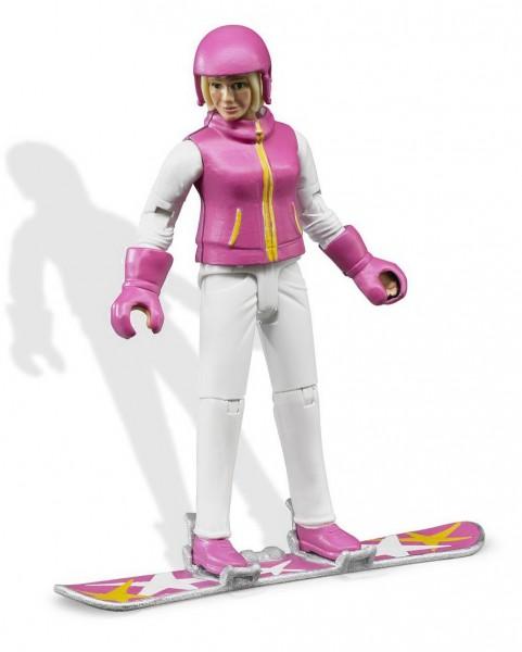 bworld 60420 - Snowboardfahrerin mit Zubehör