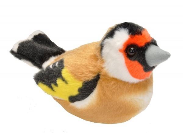 Stieglitz Distelfink Plüsch mit echter Vogelstimme