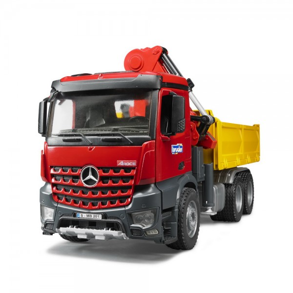 BRUDER 03651 - MB Arocs Baustellen-LKW mit Kran