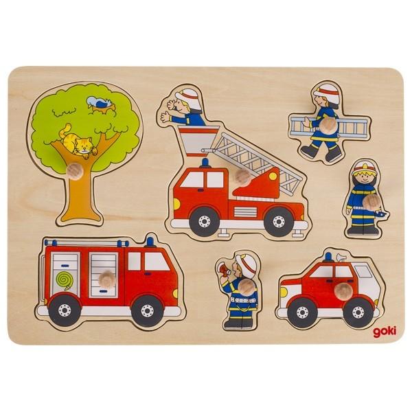 Steckpuzzle Feuerwehreinsatz (goki 57746)