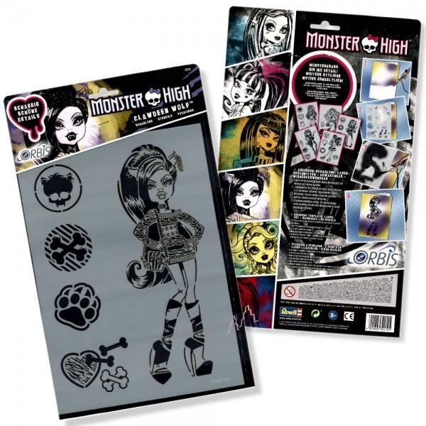 Orbis Schablone XL - Clawdeen Wolf 30219 Monster High