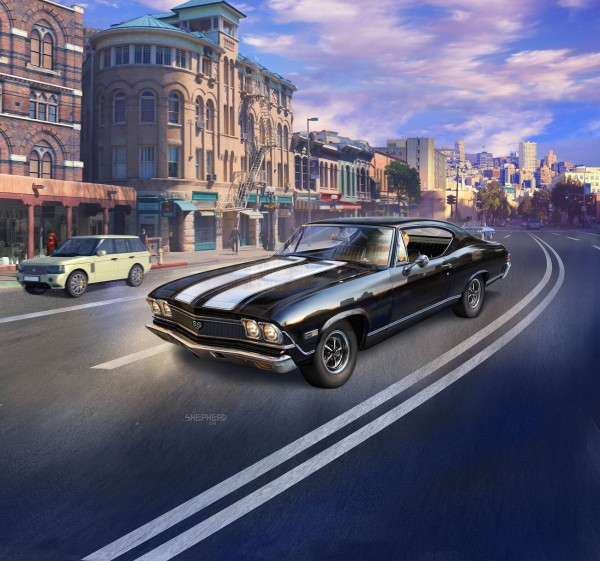 Revell 07662 - 1968 Chevy Chevelle SS 396 - Auto Modell