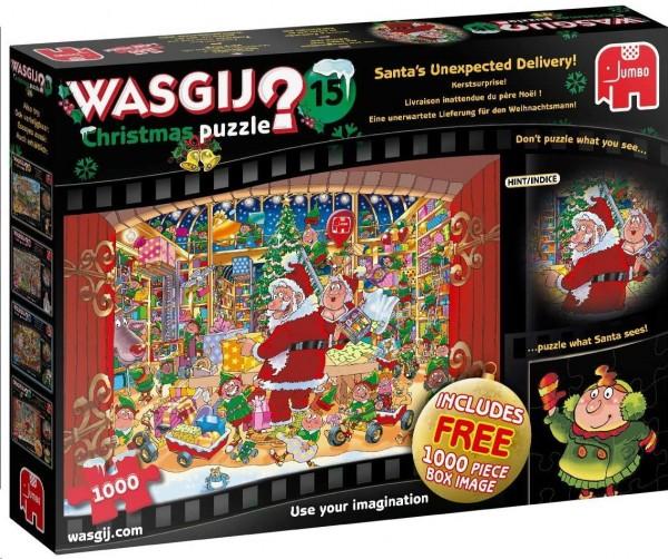 Wasgij Christmas 15 - Unerwartete Lieferung Weihnachtsmann - 2 Puzzle