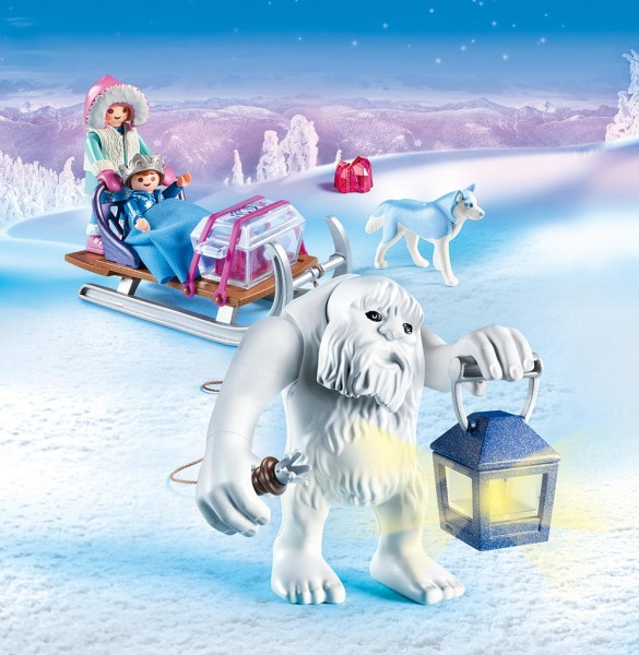 Playmobil Magic 9473 - Schneetroll mit Schlitten