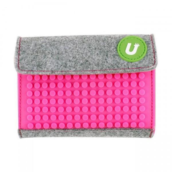 Pixelbag Portemonnaie grau/ fuchsie