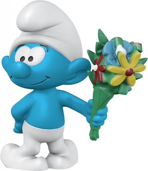 Schlumpf mit Blumenstrauß - Schleich (20798) Die Schlümpfe