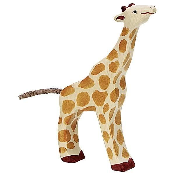 Holztiger Giraffe klein fressend (80157)