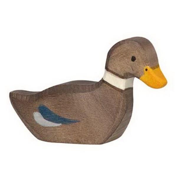 Holztiger Ente schwimmend (80024)
