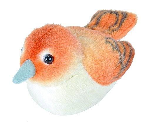 Nachtigall Plüsch mit echter Vogelstimme