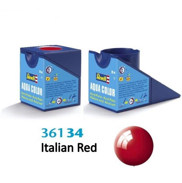 Revell Farbe 36134 - Aqua Italian Red, glänzend