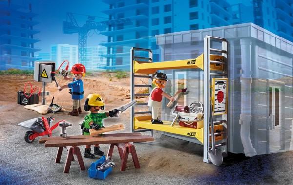 Playmobil 70446 - Baugerüst mit Handwerkern - City Action