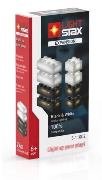 LIGHT STAX Expansion Zusatzsteine schwarz weiß (S-11002)
