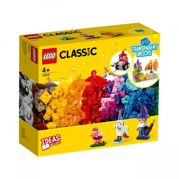 LEGO Classic 11013 - Kreativ-Bauset mit durchsichtigen Steinen