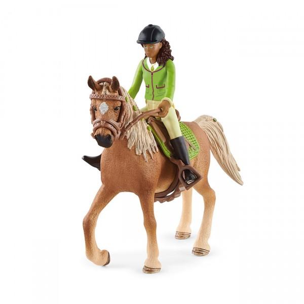 Sarah & Mystery - Reiterin und Pferd - Schleich (42542) Horse Club
