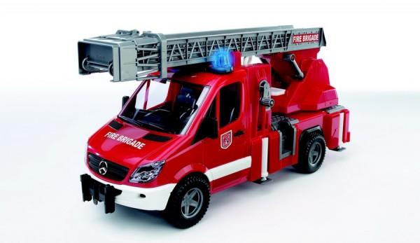 BRUDER 02532 - MB Sprinter Feuerwehr Drehleiter Pumpe