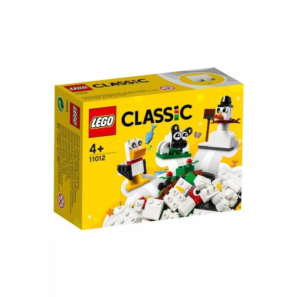 LEGO Classic 11012 - Kreativ-Bauset mit weißen Steinen
