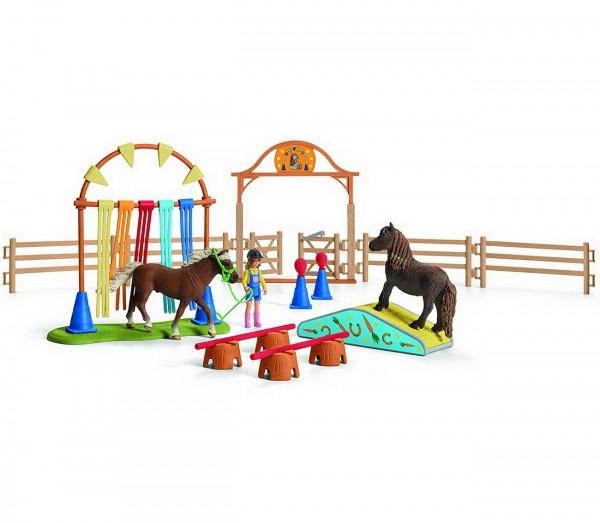Pony Agility Training - Schleich (42481) Farm World Figuren