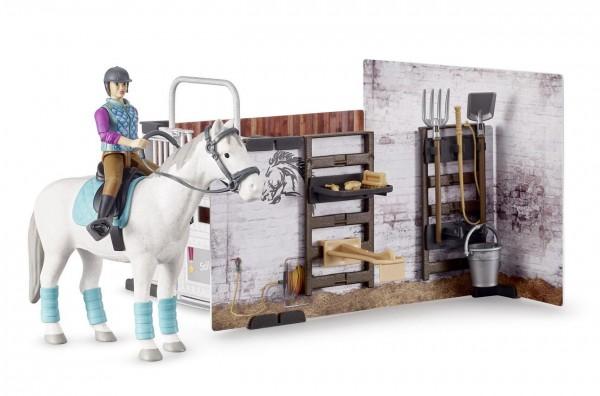 bworld 62506 - Pferdestall mit Figuren (Bruder)