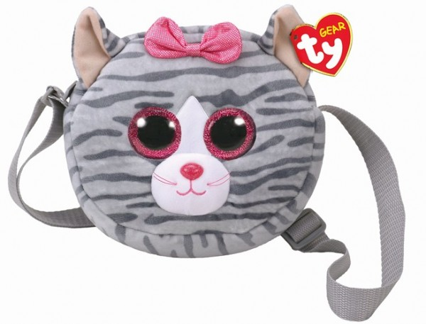 Glubschis Schultertasche- Kiki - Katze grau