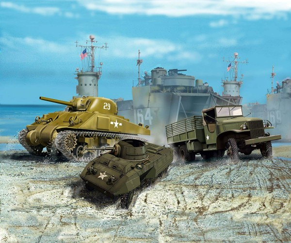 Revell 03350 - US ARMY VEHICLES (WWII)