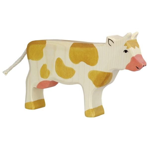 Holztiger Kuh stehend braun (80010)