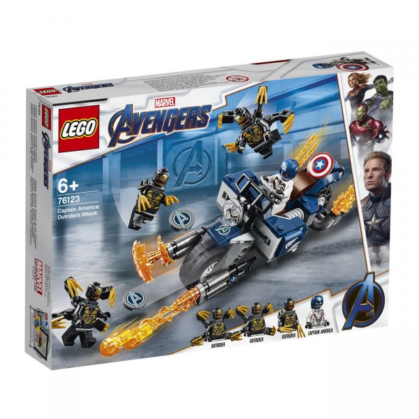 LEGO Marvel Super Heroes 76123 - Captain America: Outrider Attacke
